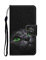 cheap -Case For Samsung Galaxy S20 S20 Plus S20 Ultra Wallet Card Holder with Stand Full Body Cases Black Cat PU Leather TPU for Galaxy A21 A11 A01 A51 A71 A41 A31 A21S