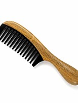 cheap -Handmade Wide Tooth Hair Comb – Anti Static 100% Natural Green Sandalwood Buffalo Horn Comb Detangling Comb for Women,Men,Thick,Fine, Curly,Straight,Wavy Hair(Wide Tooth)