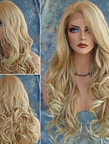 cheap -Synthetic Wig Body Wave Asymmetrical Wig Very Long Blonde Synthetic Hair 28 inch Women's Exquisite Romantic Fluffy Blonde