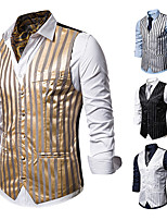 cheap -The Great Gatsby Retro Vintage Medieval Vest Men's Cotton Costume Golden / White / Black Vintage Cosplay Party Halloween Sleeveless