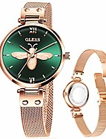 cheap -women's rose gold watch mesh watch for lady,womens thin watches dress casual simple classic green bee watch,small wrist ladies watches, women watch waterproof reloj de mujer