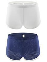 cheap -Men's 2 Piece Basic Boxers Underwear - Normal Low Waist Multi color M L XL