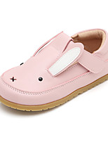 cheap -Girls' Flats Comfort PU Little Kids(4-7ys) Walking Shoes Split Joint Pink / Brown Spring / Fall
