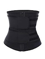 cheap -women's waist cincher neoprene zipper velcro high compression waist trainer corset for weight loss black 3xl