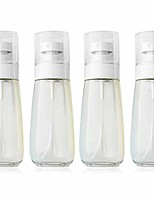 cheap -spray bottles travel size,  4pcs fine mist spray bottle set, empty airless makeup face spray bottle clear refillable travel containers for cosmetic skincare perfume (3 fl. oz) (clear)