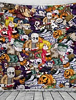 cheap -Halloween Party Party Wall Tapestry Art Decor Blanket Curtain Picnic Tablecloth Hanging Home Bedroom Living Room Dorm Decoration Pychedelic kull keleton Pumpkin Zombie Bat Witch Haunted cary Polyeter