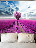 cheap -Wall Tapestry Art Decor Blanket Curtain Picnic Tablecloth Hanging Home Bedroom Living Room Dorm Decoration Polyester Blue Sky White Cloud Purple Tree View