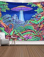 cheap -Wall Tapestry Art Decor Blanket Curtain Picnic Tablecloth Hanging Home Bedroom Living Room Dorm Decoration Polyester Print Colorful Tree People Cartoon Abstract