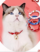 cheap -Dog Cat Pets Collar Portable Cute and Cuddly Polyester Baby Pet Red Blue 1pc