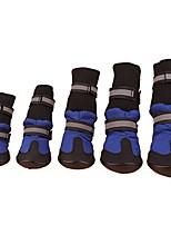 cheap -pet dog 4pcs waterproof shoes anti-slip protective boots labrador husky protect(xl,blue)