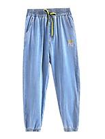 cheap -Kids Girls' Basic Blue Solid Colored Drawstring Pants Blue