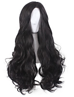 cheap -Synthetic Wig Curly Body Wave Pixie Cut Wig Long Black Synthetic Hair 30 inch Women's Soft Party Comfortable Black