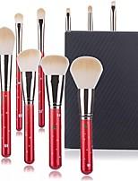 cheap -10 Pcs Christmas Makeup Brushes Red Fiber Hair Makeup Pen Brush Beauty Tools Makeup Brush Set