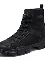 cheap -Girls' Boots Combat Boots PU Little Kids(4-7ys) / Big Kids(7years +) Walking Shoes Almond / Black Fall / Winter / Booties / Ankle Boots