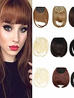 cheap -clip in bangs synthetic fiber one piece in natural straight clip in hair bangs with temple for women (#4 medium brown)