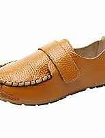 cheap -boy's girl's classic flat heel hook and loop slip-on oxford loafers shoes sn03347(yellow,12 little kid)