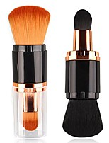 cheap -double headed foundation makeup brush for loose powder cream and liquid make up travel set