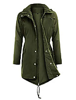 cheap -raincoats waterproof lightweight rain jacket active outdoor hooded women's trench coats,army green,medium