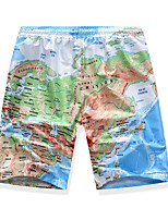 cheap -Men's Swim Shorts Swim Trunks Board Shorts Breathable Quick Dry UPF50+ Drawstring - Swimming Surfing Water Sports Painting Summer