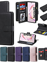 cheap -Case For Samsung Galaxy A01 M11 A11 A10 M10 S10lite Note 10 10lite 10Plus  Wallet Shockproof with Stand Full Body Cases Solid Colored PU Leather TPU