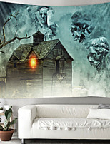 cheap -Halloween Party Holiday Wall Tapestry Art Decor Blanket Curtain Picnic Tablecloth Hanging Home Bedroom Living Room Dorm Decoration Psychedelic Skull Skeleton Haunted Scary House Polyester