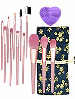 cheap -makeup brush set premium makeup brushes foundation blending brush face blush concealer eyeshadow brush with cosmetic bag pink