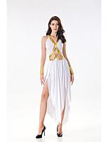 cheap -Goddess Retro Vintage Ancient Greek Vacation Dress Dress Outfits Masquerade Women's Costume White Vintage Cosplay Party Halloween Sleeveless / Wrist Brace / Wrist Brace