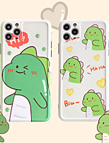cheap -Cartoon Little Dinosaur Pattern  IMD Case For Apple iPhone 11 Pro Max 8 Plus 7 Plus 6 Plus Max Back Cover
