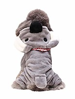 cheap -pet cat dog puppy warm knit coat clothes vest jacket apparel costume gray