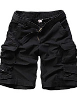 cheap -women's casual loose fit multi-pockets camouflage twill bermuda cargo shorts with belt us 8 khaki