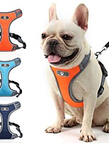cheap -Dog Cat Harness Portable Vest Anti Lost Outdoor Footprint / Paw Oxford Cloth Husky Labrador Alaskan Malamute Golden Retriever Border Collie Shiba Inu Orange Dark Blue 1pc