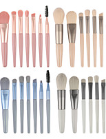 cheap -8 Pcs Mini Makeup Brushes Matte Wooden Handle Portable Soft Hair Makeup Brush Set Beauty Tools