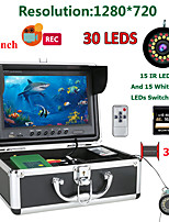 cheap -MOUNTAINONE F9AD-2L-30M 9 inch DVR Fish Finder Underwater Fishing 1080P Camera HD 1280*720 Screen15pcs White LEDs+15pcs Infrared Lamp 30m Camera For Fishing 16G