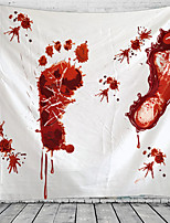 cheap -Halloween Party Holiday Wall Tapestry Art Decor Blanket Curtain Picnic Tablecloth Hanging Home Bedroom Living Room Dorm Decoration Psychedelic Bloody Footprint Haunted Scary Polyester