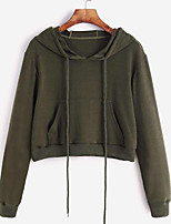 cheap -Women's Daily Pullover Hoodie Sweatshirt Solid Colored Plain Casual Hoodies Sweatshirts  Loose Black Red Army Green