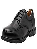 cheap -boy's classical leather school uniform dress shoes kids lace-up black loafers shoe slip-on(little kid/big kid) (color : black, size : 3 m little kid)