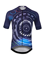 cheap -CAWANFLY Men's Short Sleeve Cycling Jersey Bule / Black Bike Jersey Top Mountain Bike MTB Road Bike Cycling Quick Dry Sports Clothing Apparel / Stretchy