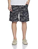 cheap -men's silver ridge printed cargo shorts, black camo, 30 x 12