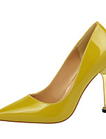 cheap -Women's Heels Stiletto Heel Pointed Toe Minimalism Office & Career Solid Colored Patent Leather Nude / White / Black