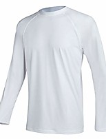 cheap -men's swim shirts rashguard sun shirt upf 50  uv sun protection outdoor long sleeve t-shirt swimwear white l
