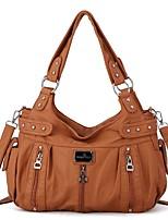 cheap -handbag hobo women handbag roomy multiple pockets street ladies' shoulder bag fashion pu tote satchel bag for women (w7127z blue)
