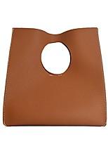 cheap -vintage minimalist style soft pu leather handbag clutch small tote (violet)