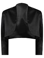 cheap -black 3/4 sleeve satin bolero shrug jacket size large
