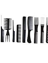 cheap -10pcs black professional hair brush comb salon barber anti-static hair combs hairbrush hairdressing combs hair care styling tools (black)