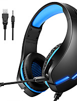 cheap -LITBest J10 PC Gamer Headset PS4 Gaming Headphones Stereo Mobile Game Earphone With Mic LED Light for Computer Phone Laptop