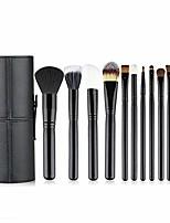 cheap -makeup brush set 12pcs synthetic makeup brushes travel set with holder makeup brush organizer foundation powder contour blush eye cosmetic brush sets case gifts for girls women & #40;black&