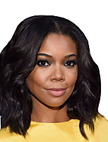 cheap -Synthetic Wig Curly Middle Part Wig Short Black Synthetic Hair Women's Comfortable Middle Part Bob Fluffy Black