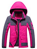 cheap -Women's Hiking Jacket Winter Outdoor Thermal Warm Waterproof Windproof Breathable Jacket Top Hunting Climbing Outdoor Black / Fuchsia / Burgundy / Orange / Ivory