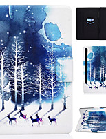 cheap -Case For Samsung Galaxy Tab S7 T870 875 Samsung Galaxy Tab A7 2020 T500 505 Card Holder Flip Magnetic Full Body Cases Animal Tree PU Leather