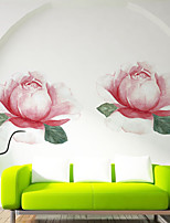 cheap -Floral / Botanical Wall Stickers Romantic Flowers Wall Stickers Decorative Wall Stickers PVC Home Decoration Wall Decal Wall Decoration 1pc